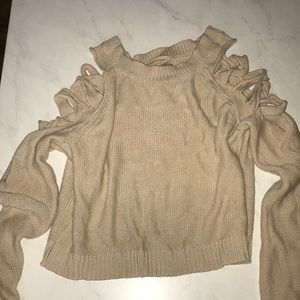 Forever 21 Contemporary Cropped Sweatshirt